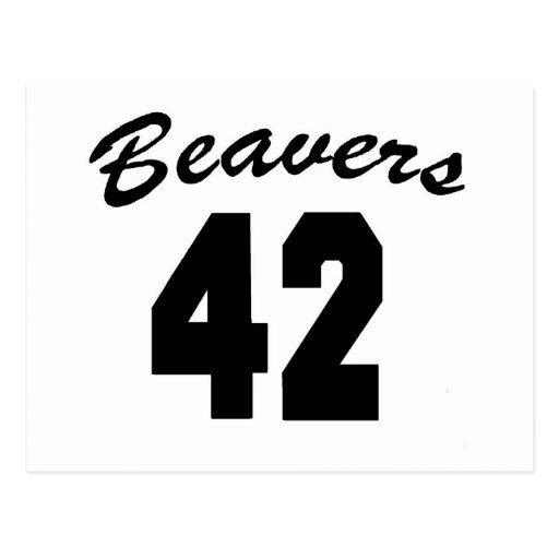 Beavers #42 postcard