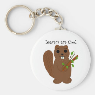 Beavers are Cool Keychain