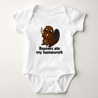 Beavers ate my homework baby bodysuit