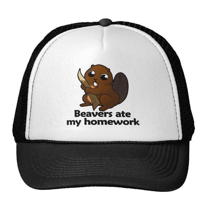 Beavers ate my homework trucker hat
