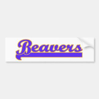 Beavers Bumper Sticker
