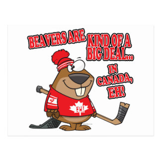 beavers kind of big deal in canada post card
