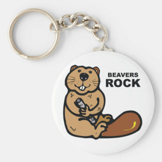 Beavers Rock Keychain