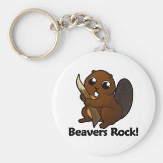 Beavers Rock! Keychain