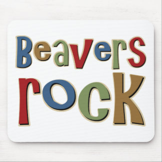Beavers Rock Mouse Pad