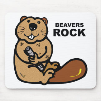 Beavers Rock Mouse Pad