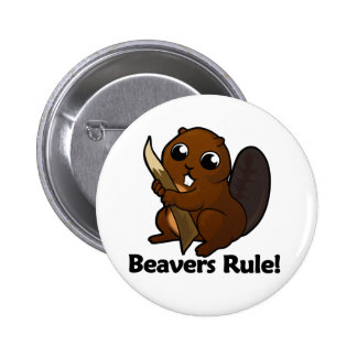 Beavers Rule! Button