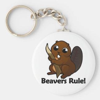 Beavers Rule! Keychain