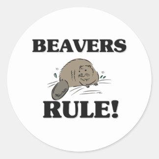 BEAVERS Rule! Round Sticker