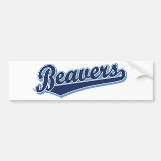 Beavers script logo in custom blue bumper sticker