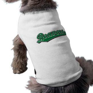 Beavers script logo in green T-Shirt