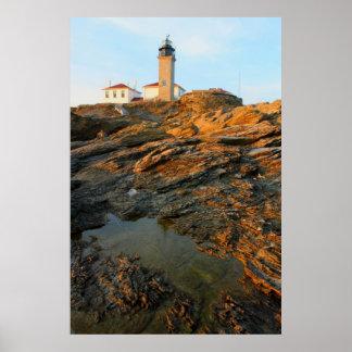 Beavertail Lighthouse Jamestown Rhode Island Poster
