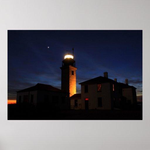 Beavertail Lighthouse Last Light Poster