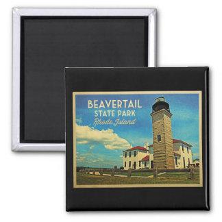 Beavertail Lighthouse Rhode Island Fridge Magnet