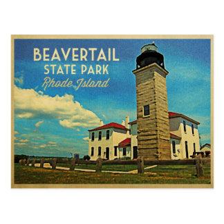 Beavertail Lighthouse Rhode Island Postcard