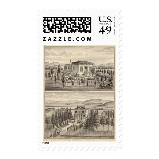 Beazell, English residences, farms Stamps