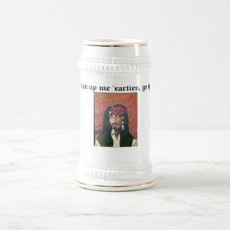 ¡Beba encima de mí los 'earties, yo ho! Jarra De Cerveza