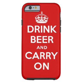 Beba la cerveza y continúe