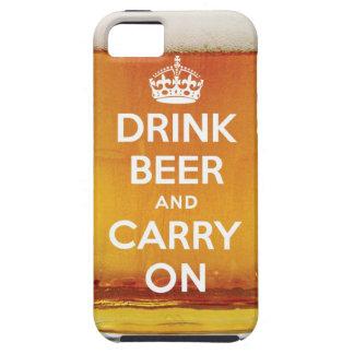 Beba la cerveza y continúe iPhone 5 carcasa