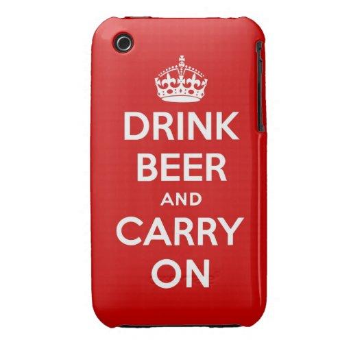 Beba la cerveza y continúe iPhone 3 fundas