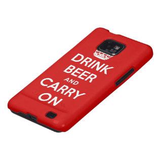 Beba la cerveza y continúe galaxy s2 carcasas