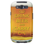 Beba la cerveza y continúe samsung galaxy s3 carcasas