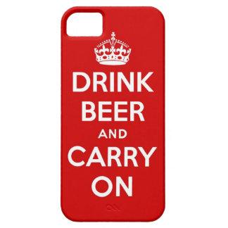 Beba la cerveza y continúe iPhone 5 funda