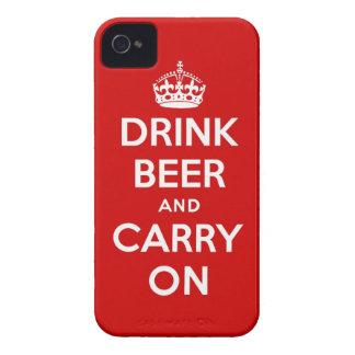 Beba la cerveza y continúe iPhone 4 cobertura