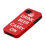 Beba la cerveza y continúe Case-Mate iPhone 4 carcasas
