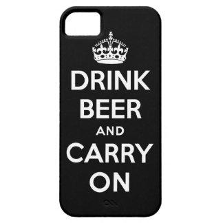 Beba la cerveza y continúe iPhone 5 Case-Mate fundas