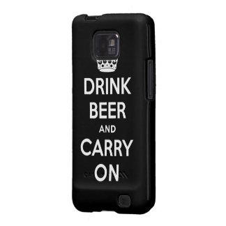 Beba la cerveza y continúe samsung galaxy s2 carcasa