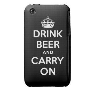 Beba la cerveza y continúe iPhone 3 funda