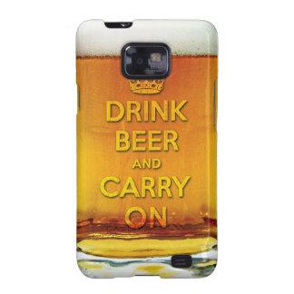 Beba la cerveza y continúe galaxy s2 carcasa