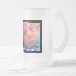 """""""Beba la leche"""" - taza del vidrio esmerilado de 16"""