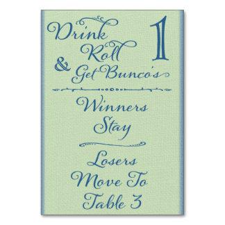Beba, ruede y consiga la tarjeta #1 de la tabla de
