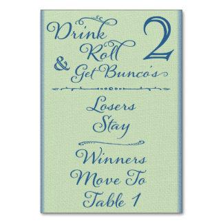 Beba, ruede y consiga la tarjeta #2 de la tabla de