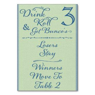 Beba, ruede y consiga la tarjeta #3 de la tabla de