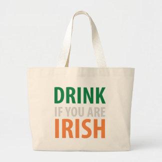 beba si usted es irlandés bolsa tela grande