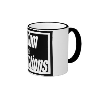 ¡Beba su café con el asilo!! Taza De Dos Colores