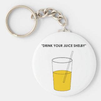 Beba su jugo Shelby Llavero Personalizado