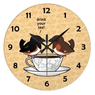 ¡Beba su té! Relojes De Pared