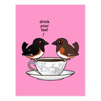 ¡Beba su té! Postal