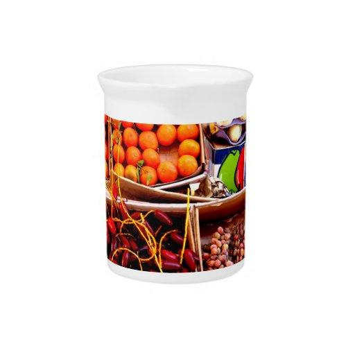 Beba un poco de fruta jarrón