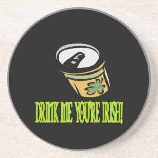 Bébame su irlandés posavaso para bebida