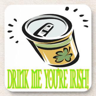 Bébame su irlandés posavasos de bebidas