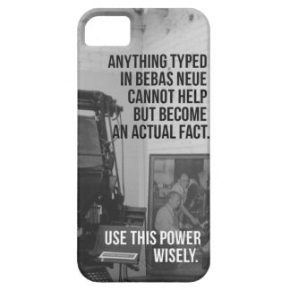 Bebas Neue iPhone 5 Case