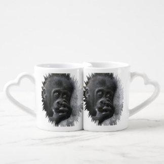 Bebé 001 del gorila set de tazas de café