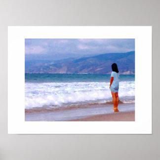Bebé #1 2015 de la playa de Santa Mónica Póster