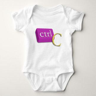 Bebé 1 del gemelo del empollón del ordenador de 2 playera