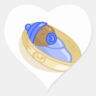 Bebé 1 pegatina corazón personalizadas